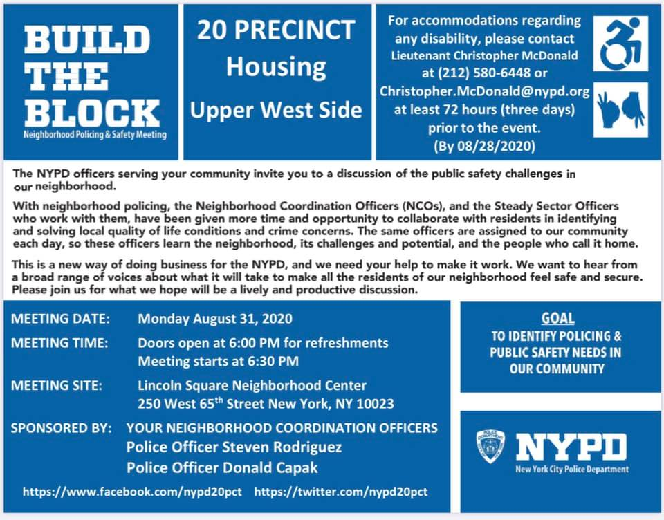 20th Precinct Meeting