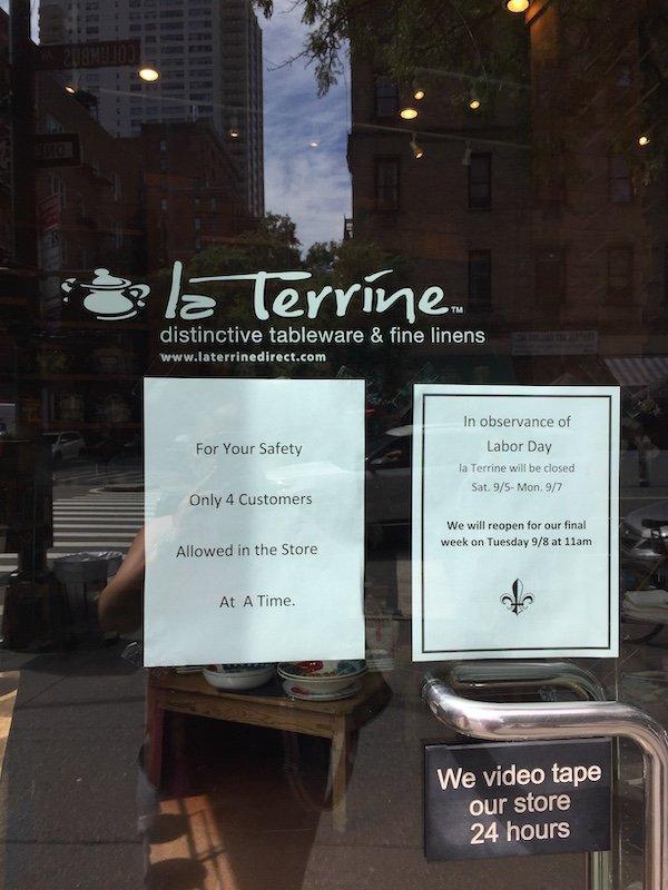 La Terrine Closing