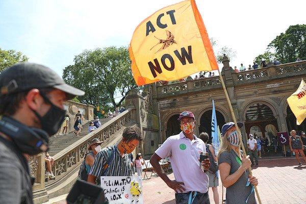 climate change protest bethesda fountain