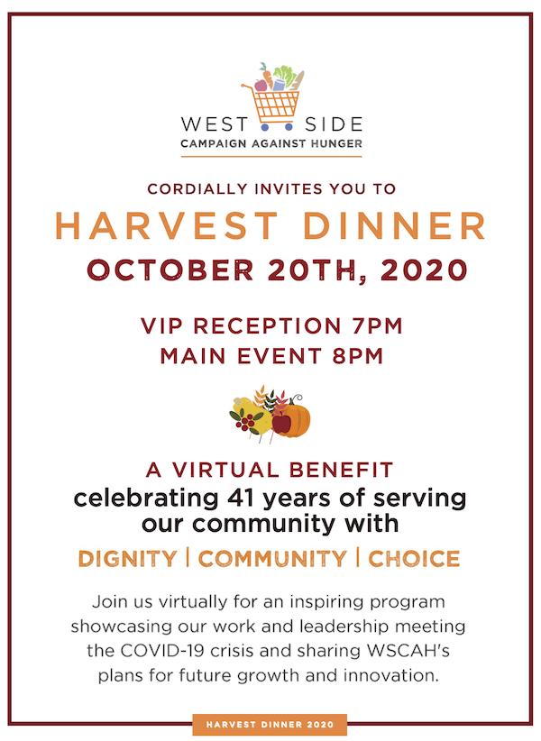 2020 Virtual Harvest Dinner