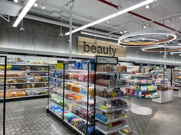 Beauty section Target 1863 Broadway