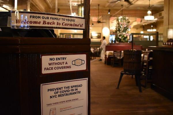 Carmine's indoor dining