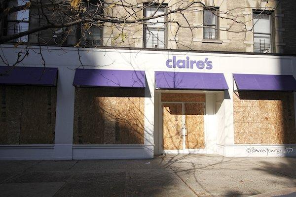 Claire's boarded up