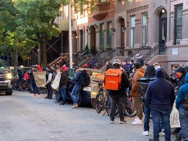Delivery Worker Protest NYC