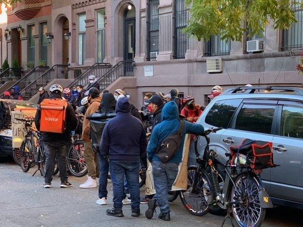 Delivery Workers Protest UWS