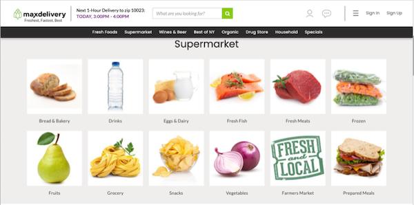 MaxDelivery Supermarket