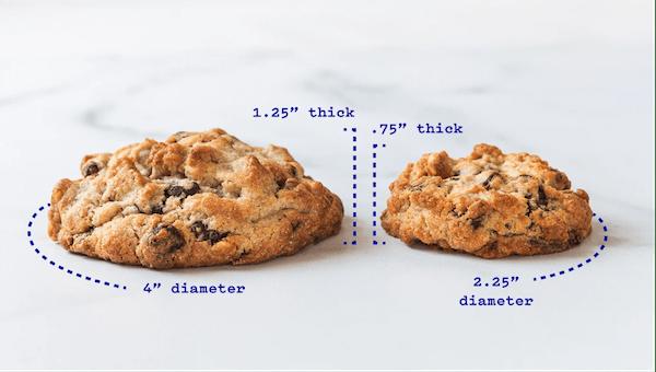 Levain Bakery cookie dimensions