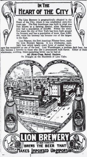 Lion Brewery Advertisement