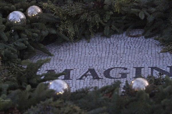 John Lennon memorial Christmas wreath