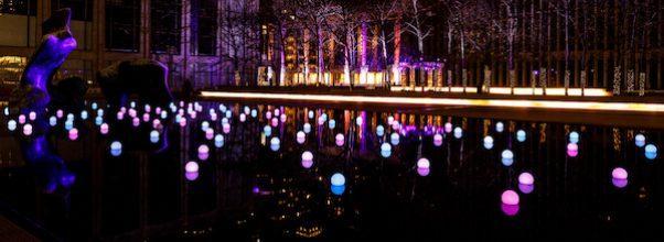 Light Display Lincoln Center NYC