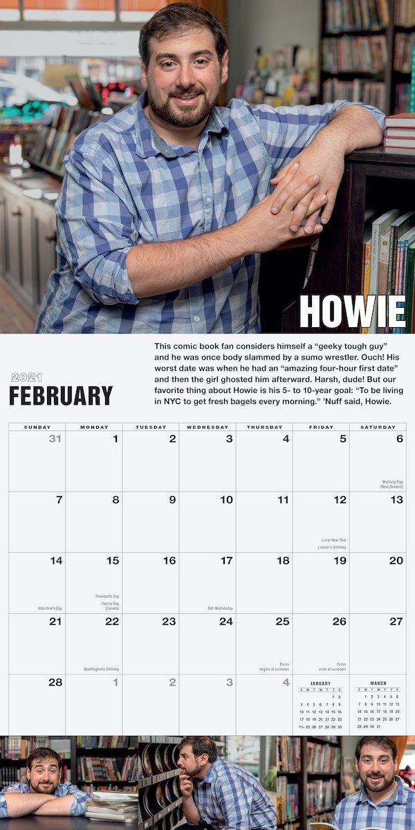 Sexiest Mensch Alive wall calendar