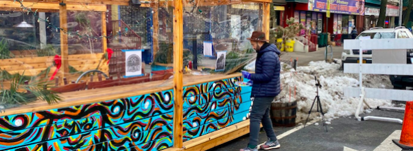 UWS Bar Becomes Sidewalk Masterpiece