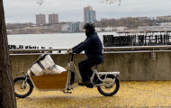 Riverside Park Workers Ride Around on Electric Cargo Bikes (VIDEO)