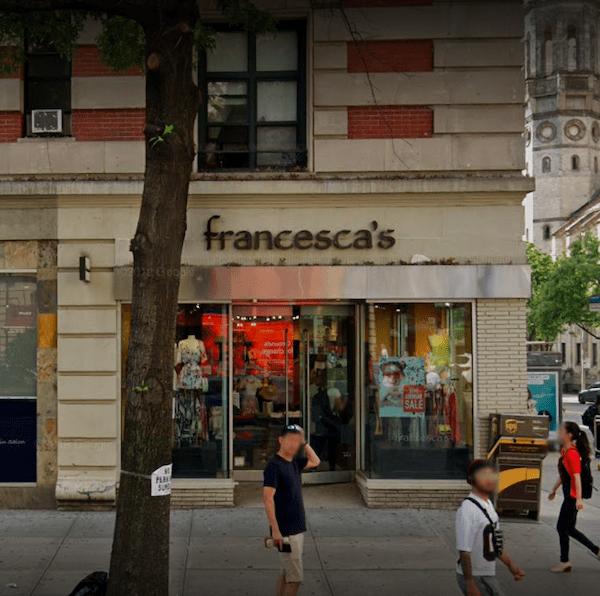 Francesca's closing