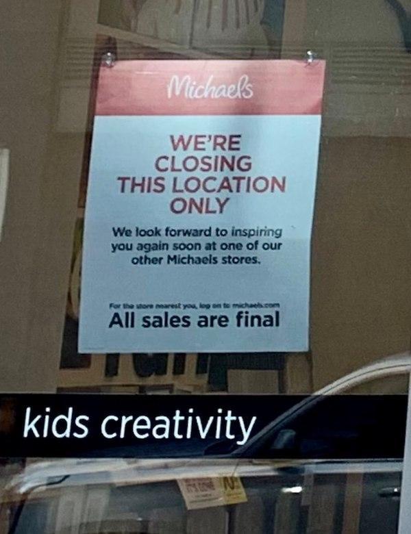 Michael's closing