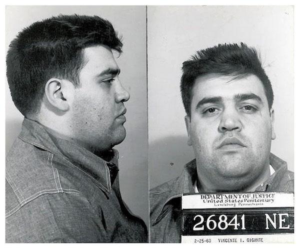 Mugshot of Vincent Gigante taken in 1960