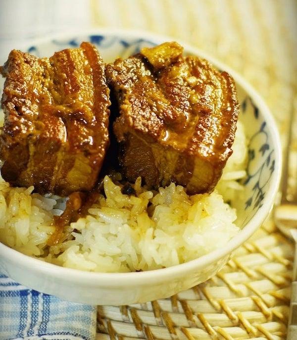 Sticky Rice w Caramelized Pork Belly