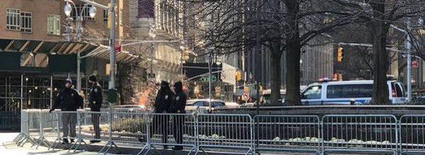 cops secure columbus circle protest rumors