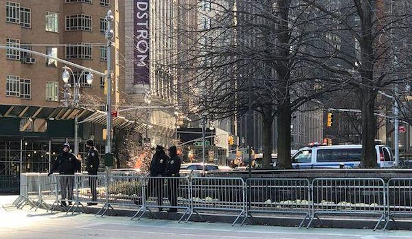 cops secure columbus circle