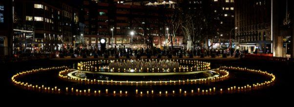 Lincoln Center Candle Lighting