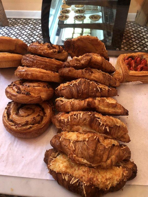 cinammon rolls and puff pastries