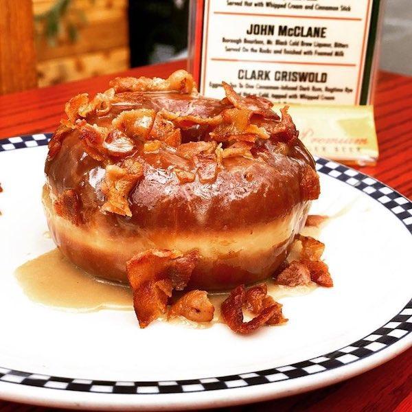 maple bacon glazed donut