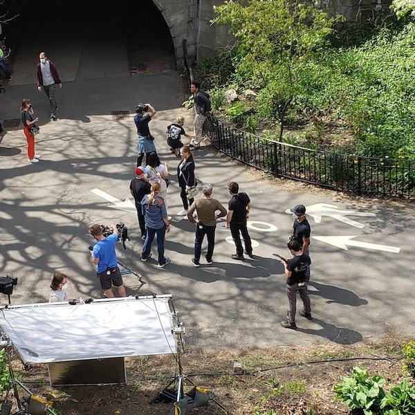 Amy Schumer filming Life and Beth UWS