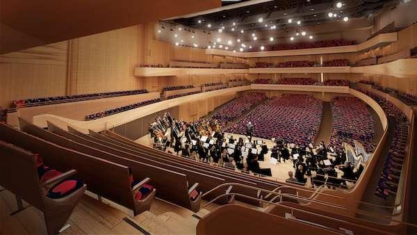 David Geffen Hall Behind Orchestra