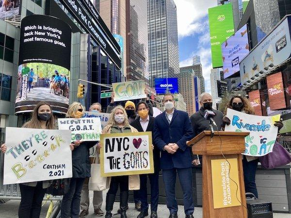 Goat Announcement Times Square