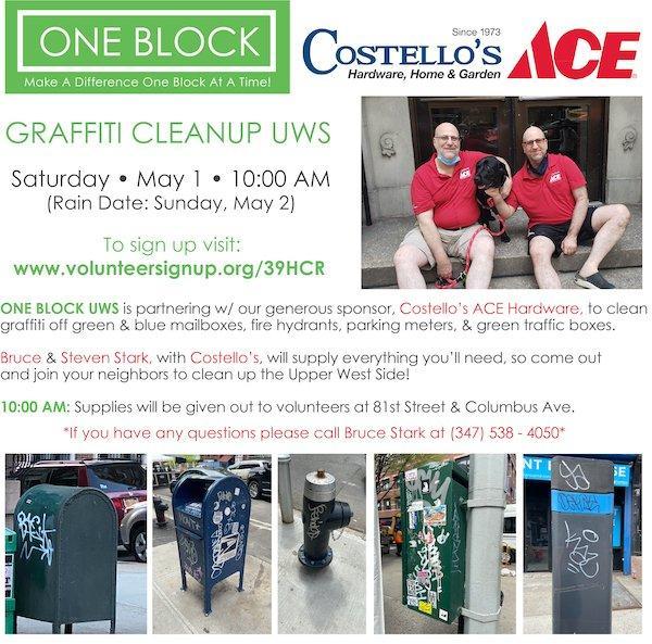 May 1 Graffiti Cleanup