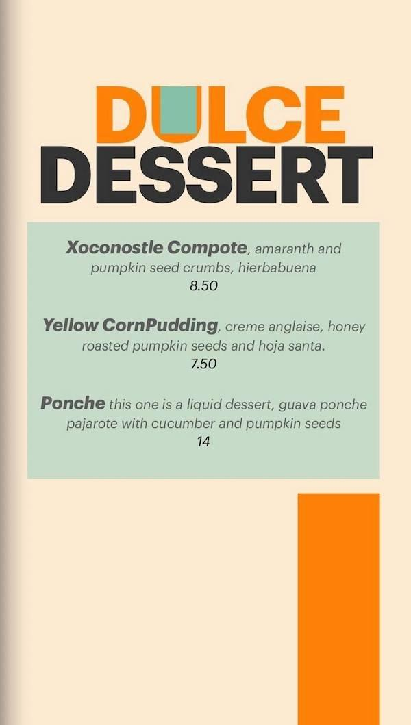 covacha dessert menu