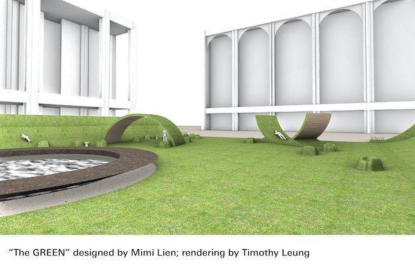 green lawn Lincoln Center