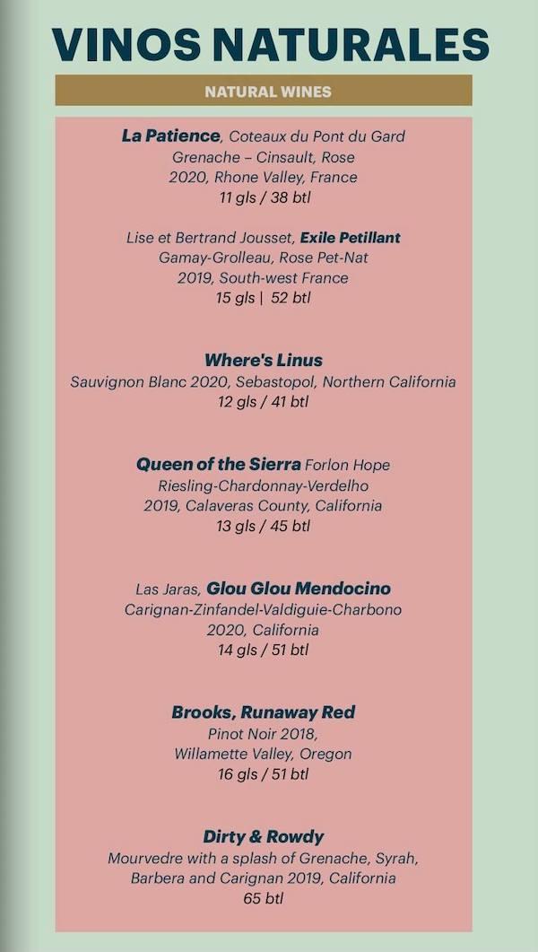 vinos natural wines
