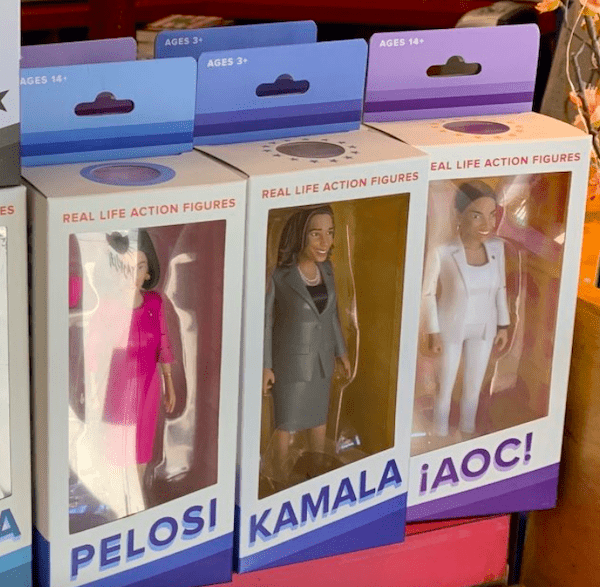 Pelosi and AOC dolls