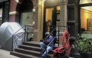 """UPDATE: The """"Mystery Tent"""" on West 67th Street is Gone"""