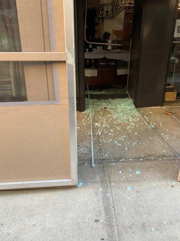 shattered window Elea UWS
