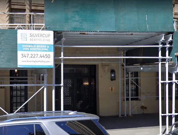 scaffolding 51 West 86th Street