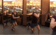 "Unhinged Lady Yells at Restaurant Goers: ""Ya Stupid Schmuck!"""