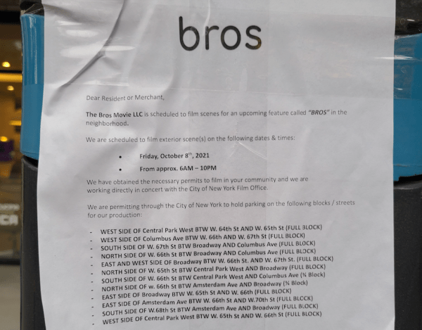 Bros filming on UWS NYC