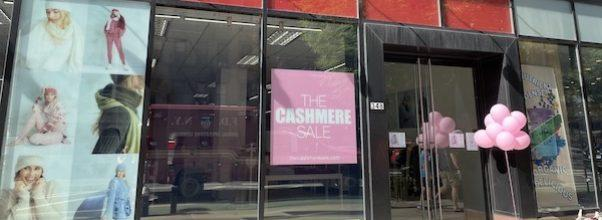 The Cashmere Sale Returns to the Upper West Side