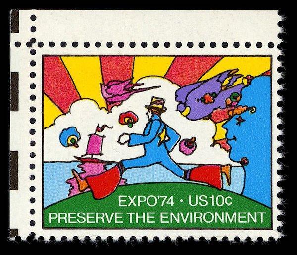 stamp design peter max