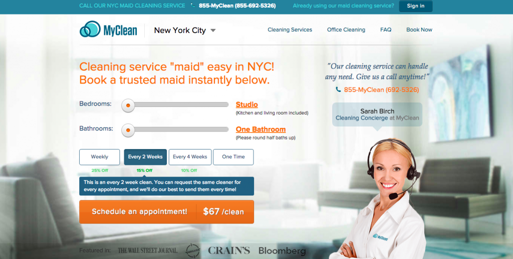 MyClean Home Page
