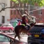 Riding Horseback West End Avenue