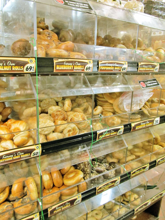 Bagels at the Fairway Market on the Upper West Side