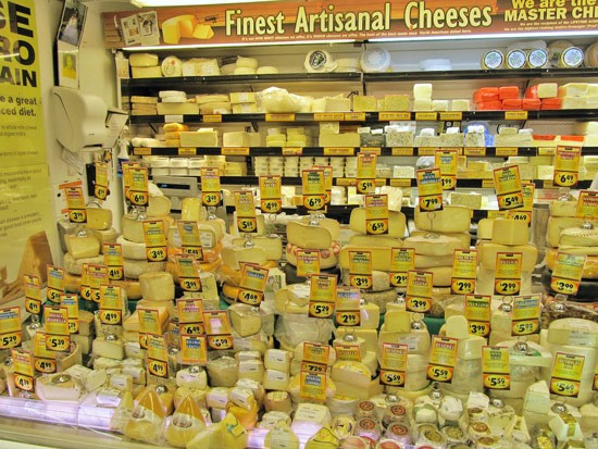 Cheeses at the Fairway Market on the Upper West Side
