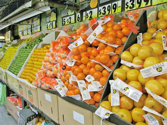 Produce at the Fairway Market on the Upper West Side