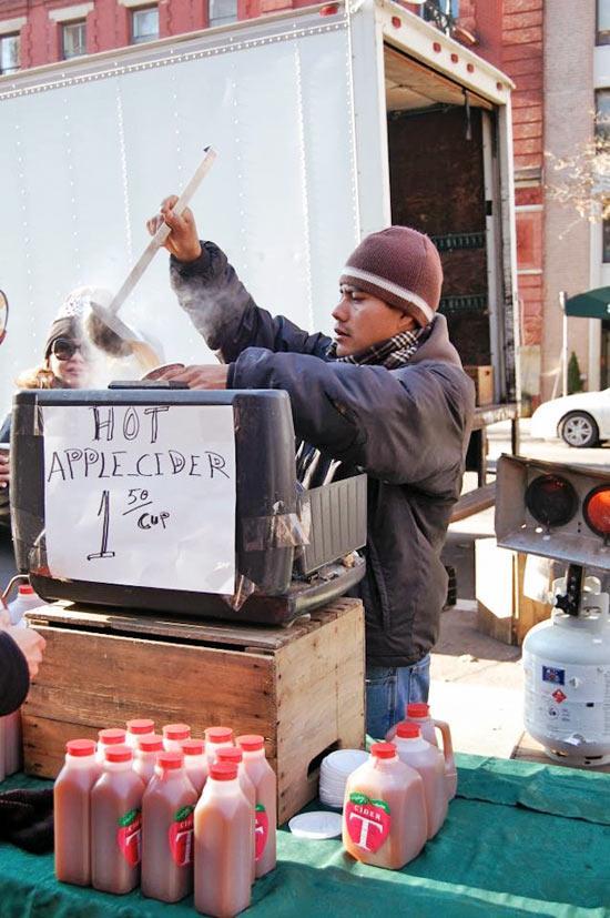 GreenMarket Apple Cider on the Upper West Side