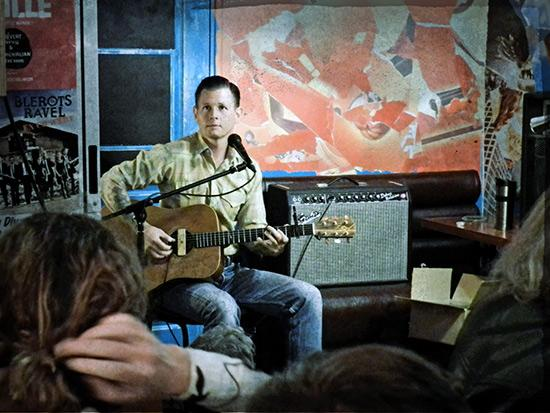 Jake La Botz playing at Underground Lounge on the Upper West Side