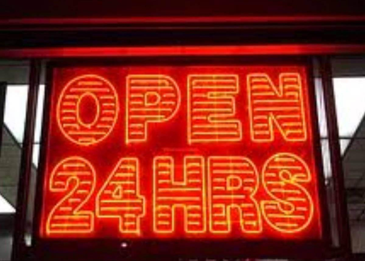 Open 24 Hours Convenience Store Sign