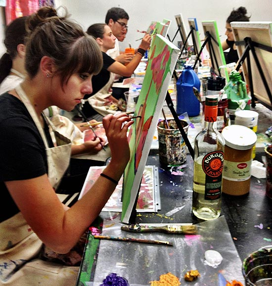Painting Party at the Art Studio NY on the Upper West Side in New York City